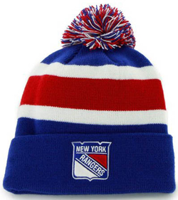 Шапка REEBOK Cuff Pom Knit New York Rangers