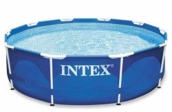 Бассейн INTEX Metal Frame 28202 + насос р.305х76см