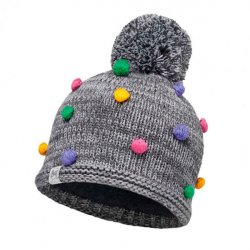 Шапка BUFF Child Knitted&Polar Hat Buff Odell Grey Vigore